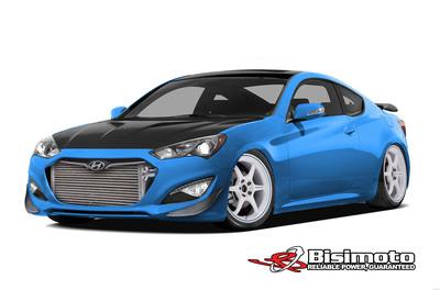 Hyundai is again partnering with Bisimoto Engineering to create a 1,000 horsepower Genesis Coupe for the 2013 SEMA show.  (PRNewsFoto/Hyundai Motor America)
