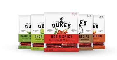 Duke's new Smoked Shorty(R) Sausages. Sales of Duke's Smoked Shorty Sausages are up over 127 percent over last year, as the meat snack category continues to grow.