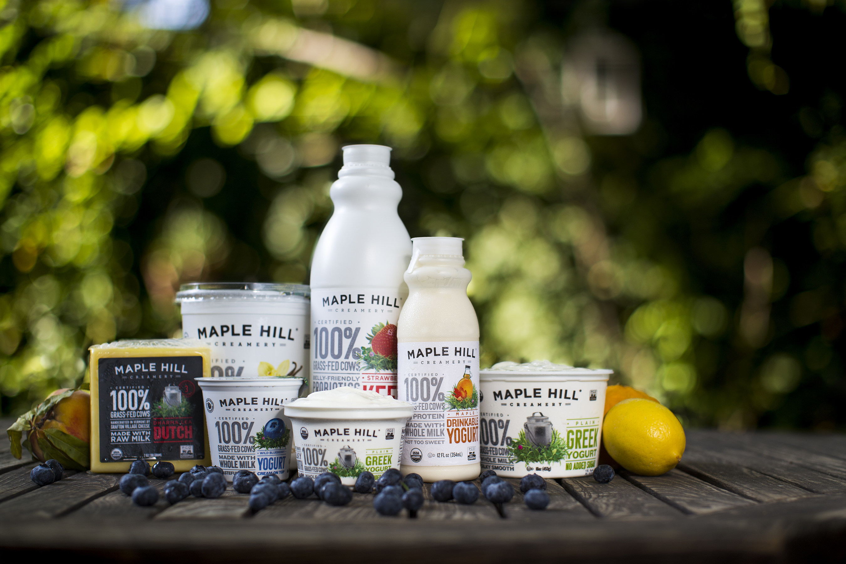Maple Hill Creamery debuts new logo and product packaging that elevates their 100% Grass-Fed Dairy messaging
