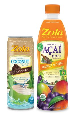Zola(R) Launches Chocolate Coconut Water and Acai with Mango and Chia