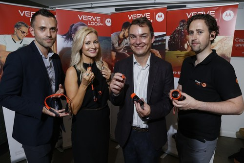 VerveLife UK launch. L-R David Flintoft, Nikki Dean, Frank Durden, Jon Bugden (PRNewsFoto/VerveLife)