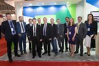 Justin Ryan, Deputy Head of Mission, Irish Embassy, UAE (second left) and Enterprise Ireland host eight of Ireland's leading aviation companies during a reception at the Dubai Airshow. (PRNewsFoto/Enterprise Ireland)