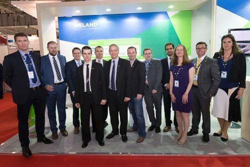 Justin Ryan, Deputy Head of Mission, Irish Embassy, UAE (second left) and Enterprise Ireland host eight of ...