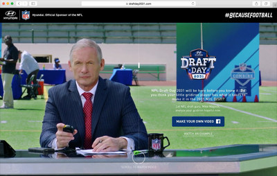 Hyundai is helping make the 2016 NFL Draft experience better for fans by allowing families to create and share their own draft videos of their kids at DraftDay2031.com.