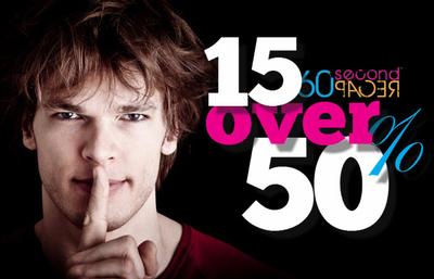 "60second Recap's answer to Forbes ""30 under 30"": Recap's ""15 over 15%"".  (PRNewsFoto/60second Recap)"