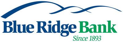 Blue Ridge Bank, since 1893. (PRNewsFoto/Blue Ridge Bankshares, Inc.)