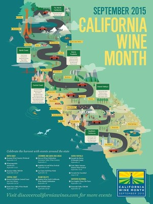 discovercaliforniawines.com/californiawinemonth has a poster offer featuring a map of California wine regions.