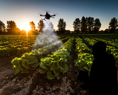 Germ drones over crop fields; Looming bio-terrorism threat.