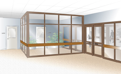 Frameworks manufactures interior aluminum security vestibules that can easily create a retrofit solution for your school facility. Interior vestibules provide an added layer of security when faced with an intruder by delaying the individual entering the building.