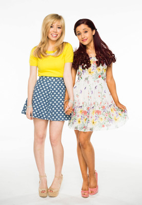 Nickelodeon's Jennette McCurdy and Ariana Grande premiere brand-new series Sam & Cat on Sat. June 8, at 8pm.  (PRNewsFoto/Nickelodeon)