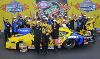 Mopar's Jeg Coughlin Jr. wins first event in NHRA's Countdown to Championship. (PRNewsFoto/Chrysler Group LLC) (PRNewsFoto/CHRYSLER GROUP LLC)