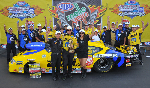 Mopar's Jeg Coughlin Jr. wins first event in NHRA's Countdown to Championship.  (PRNewsFoto/Chrysler Group LLC)