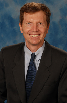 """Patrick Hardigan, Ph.D., executive director for Health Professions Division research at Nova Southeastern University, was honored for receiving a U.S. Patent for an algorithm he developed called the """"Statistical Model for Predicting Falling in Humans,"""" also known as the """"Fall Model."""" (PRNewsFoto/Nova Southeastern University) (PRNewsFoto/NOVA SOUTHEASTERN UNIVERSITY)"""