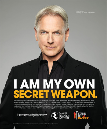 Mark Harmon in the new PSA with The Cancer Research Institute (CRI) and Stand Up To Cancer (SU2C).  (PRNewsFoto/Stand Up To Cancer (SU2C) and the Cancer Research Institute (CRI))