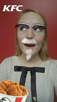 """Colonelize"" yourself with the KFC Snapchat Lens"