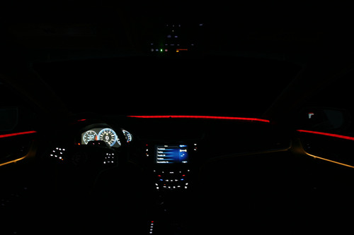Continental's Halo technology employs a 360 degree approach of visual warning to recapture a distracted ...