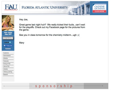 What a student wrapped email could look like using WrapMail.  (PRNewsFoto/WrapMail)