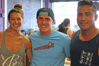 Abby Taylor, Robert Giuliani and Desi Saran are the partners behind Playa Bowls.