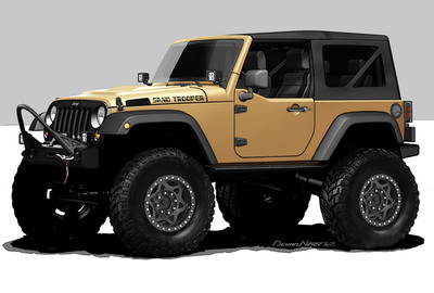 Mopar readies Jeep Sand Trooper for SEMA.  (PRNewsFoto/Chrysler Group LLC)