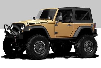 Mopar readies Jeep Sand Trooper for SEMA.  (PRNewsFoto/Chrysler Group LLC)