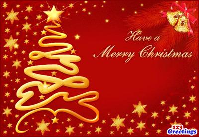 Merry Christmas.  (PRNewsFoto/123Greetings.com, Inc.)