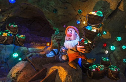 The Seven Dwarfs Mine Train, a brand new roller coaster ride, is part of the newly expanded Fantasyland within ...