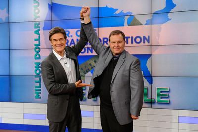 Dr. Oz announces Michael Lamb, 55, from Athens, Georgia as the winner of the season long Dr. Oz's Transformation Nation: Million Dollar You contest.  Lamb's motivation for his personal health transformation was to be eligible as a kidney donor to his wife, who is fighting lupus.  (PRNewsFoto/The Dr. Oz Show, Barbara Nitke)