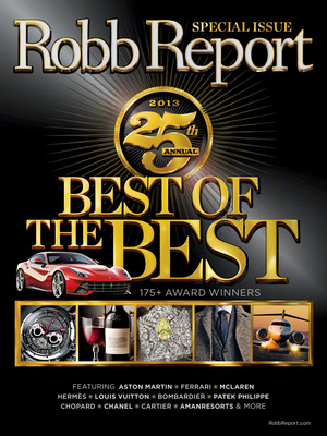 "Robb Report Magazine ""Best of the Best"" Issue.  (PRNewsFoto/Robb Report)"