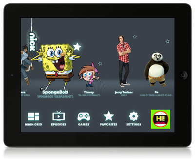 """Nickelodeon Launches The """"Nick App"""" New Interactive Platform For iPad."""