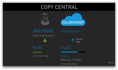Using the CopyCentral feature, part of the upcoming 2014 release of Colorfront Express Dailies and On-Set Dailies, users can quickly and securely upload original camera footage, and the associated metadata, to a choice of cloud servers, and then perform  ...