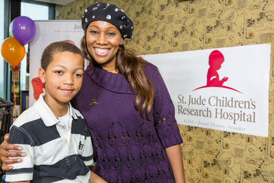 Nine-year-old Emmanuel joined Grammy Award-winning gospel artist Yolanda Adams during the Yolanda Adams Morning Show to share his inspiring story during the annual Radio Cares for St. Jude Kids(R) radiothon.  (PRNewsFoto/ALSAC/St. Jude Children's Research Hospital)