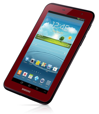 Samsung Brings Color to the Tablet Space with Garnet Red Edition Galaxy Tab 2.  (PRNewsFoto/Samsung Electronics America Inc.)