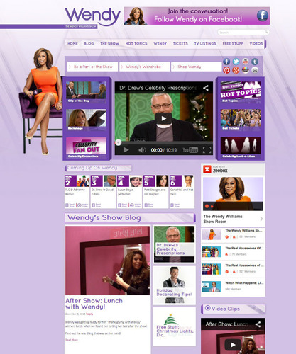 "Leading Daytime Talk Show, The Wendy Williams Show, Selects zeebox's Newly Syndicated ""TV Rooms"" to Unleash Interactivity and Discussion Across the Latest Entertainment and Celebrity News. (PRNewsFoto/zeebox) (PRNewsFoto/ZEEBOX)"