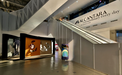 Alcantara display at Design Shanghai.  (PRNewsFoto/Alcantara)