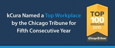 kCura Named a Top Workplace by the Chicago Tribune for the Fifth Consecutive Year (PRNewsFoto/kCura)
