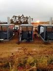 FlexEnergy gas turbines on a customer site in The Bakken. (PRNewsFoto/FlexEnergy Inc.)