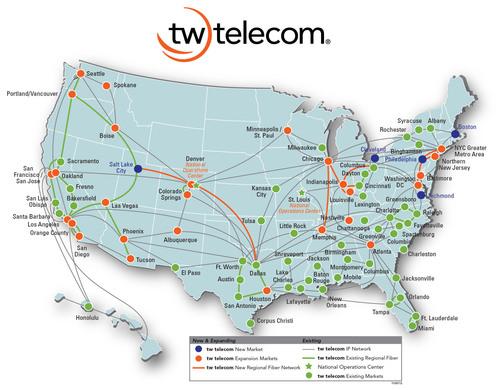 tw telecom Accelerates Market Expansion. (PRNewsFoto/tw telecom inc.) (PRNewsFoto/TW TELECOM INC.)