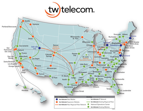 tw telecom Accelerates Market Expansion.  (PRNewsFoto/tw telecom inc.)