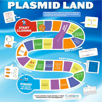 Addgene.org Plasmid Land Board Game.  (PRNewsFoto/Addgene)