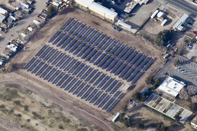 City of Ridgecrest, CA Project with Yingli Solar PV Modules. Photo Courtesy of Borrego Solar.  (PRNewsFoto/Yingli Green Energy Holding Company Limited)