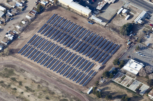 City of Ridgecrest, CA Project with Yingli Solar PV Modules. Photo Courtesy of Borrego Solar.  ...