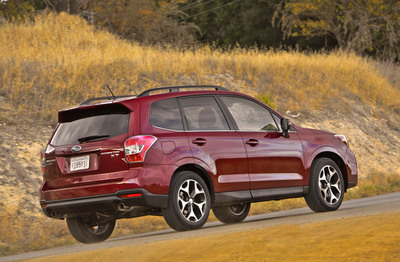 SUBARU INTRODUCES ALL-NEW 2014 FORESTER(R) CROSSOVER SUV AT LOS ANGELES AUTO SHOW.  (PRNewsFoto/Subaru of America, Inc.)