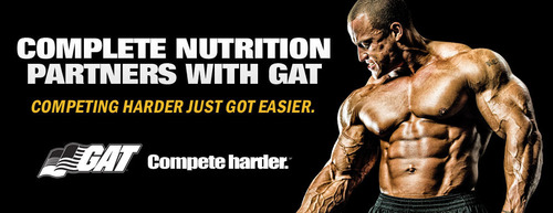 Complete Nutrition(R) partners with sports nutrition brand GAT.  (PRNewsFoto/GAT)