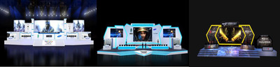 WCG 2012 Grand Final stage, From left to right: stage A, stage D, Crossfire stage.  (PRNewsFoto/World Cyber Games)