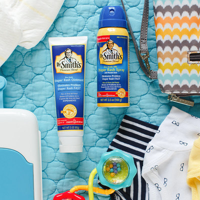 """Dr. Smith's(R) Diaper Rash Treatment Products Arrive at Major Retailers, Babies """"R"""" Us, buybuy BABY and Target"""