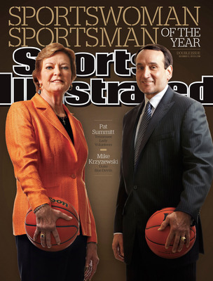 2011 Sports Illustrated Sportswoman and Sportsman of the Year: Pat Summitt and Mike Krzyzewski.  (PRNewsFoto/SPORTS ILLUSTRATED)