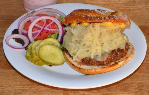 Grass fed Reuben Burger. (PRNewsFoto/IMX) (PRNewsFoto/IMX)