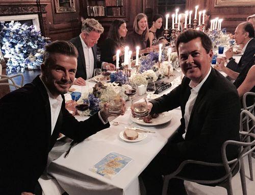 David Beckham and Simon Fuller toast to the global launch of HAIG CLUB(TM). Welcome to HAIG CLUB(TM) Enjoy ...