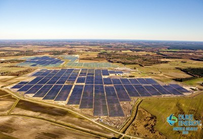 Duke Energy Renewables solar facility in Conetoe, North Carolina. Photo: courtesy of (C)Aerophoto America