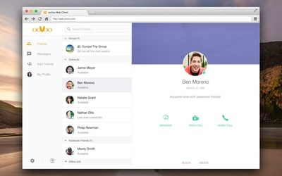 Video chat directly within compatible Internet browsers.